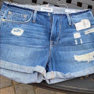NWT Frame denim shorts